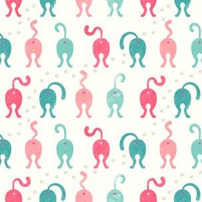 Cat Butts - Teal Pink