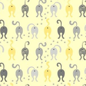 Cat Butts - Yellow Gray