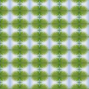 Green Palm Motif