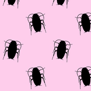 Pink Cockroach Fabric