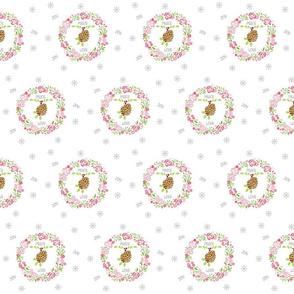 Petal shabby chic rose wreath Peace love joy