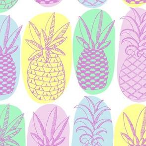Pastel Purple Pineapples