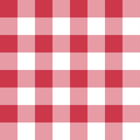 candy-cane red one-inch check fabric by weavingmajor on Spoonflower - custom fabric