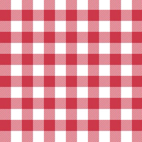 "5/8"" Candy cane red gingham"