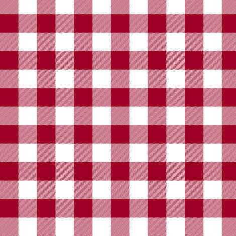 "Cinnamon red 5/8"" gingham fabric by weavingmajor on Spoonflower - custom fabric"