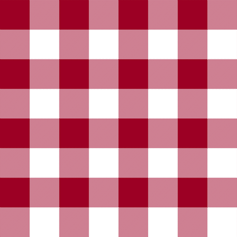 Cinnamon red and white one-inch gingham fabric by weavingmajor on Spoonflower - custom fabric