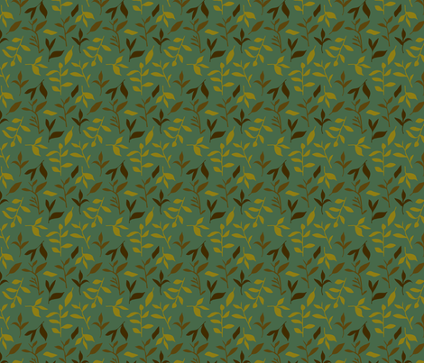 Tea Leaf Scatter (forest) fabric by seesawboomerang on Spoonflower - custom fabric