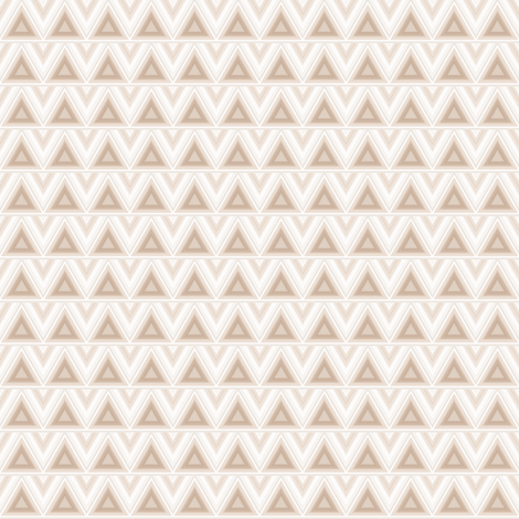 Beige Triangles on Cream small fabric by gingezel on Spoonflower - custom fabric