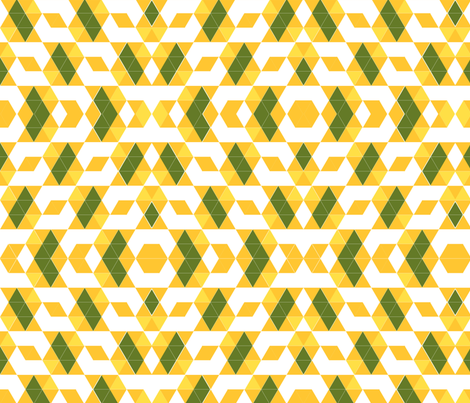 triangle hexagon square grid fabric by zula on Spoonflower - custom fabric