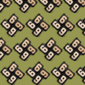 6666blur olive