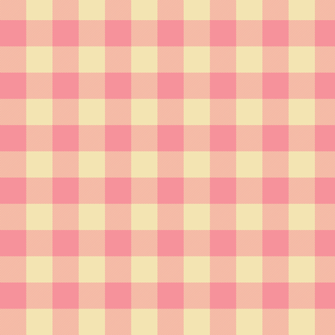 "pink creamsicle 5/8"" gingham check fabric by weavingmajor on Spoonflower - custom fabric"