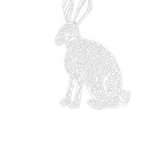 Embroidery Pattern - Jack Rabbit