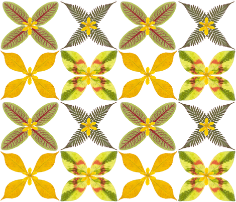 Real leaf pattern fabric by mypetalpress on Spoonflower - custom fabric