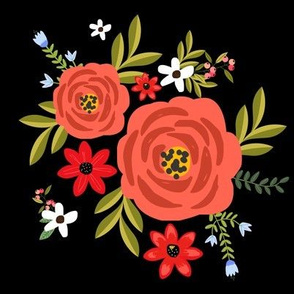 Cabana Rose in Black