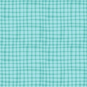 BZB Perfect Gingham  Aqua