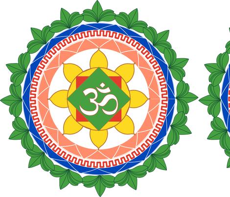 Mandala_Om fabric by mishimoqua on Spoonflower - custom fabric