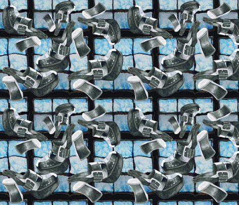 Shoes Falling Into Blue fabric by studiosarcelle on Spoonflower - custom fabric