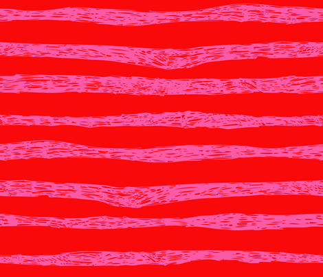 BZB stripe red pink combo fabric by bzbdesigner on Spoonflower - custom fabric