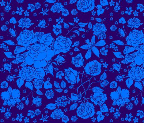 Large Floral fabric by jadegordon on Spoonflower - custom fabric