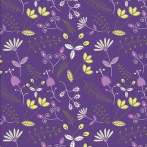 Groovy Garden (Purple)