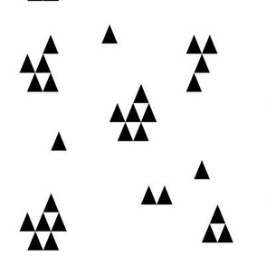 Monochrome triangles - geometric, black and white, modern triangles || by sunny afternoon