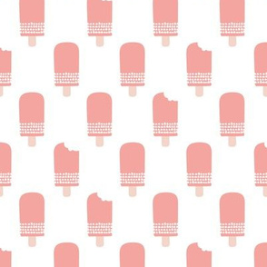 Scandinavian retro popsicle ice cream summer illustration pattern pastel pink