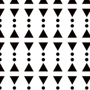 Super trendy geometric shapes circus squares triangles and dots abstract memphis retro black and white