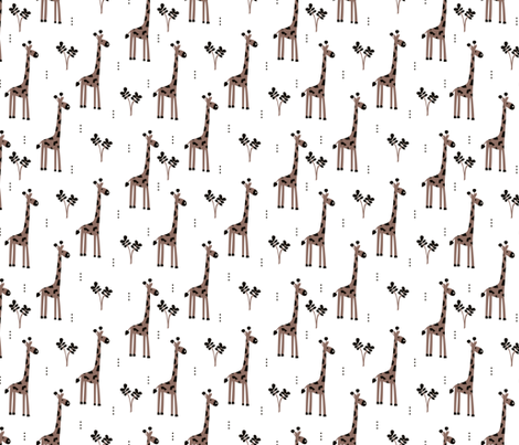 Quirky african zoo animals giraffe safari kids gender neutral fabric by littlesmilemakers on Spoonflower - custom fabric