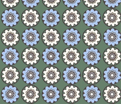 geometricflower fabric by snap-dragon on Spoonflower - custom fabric