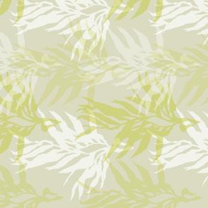 White & Green Kelp on Light Green/Gray-ed