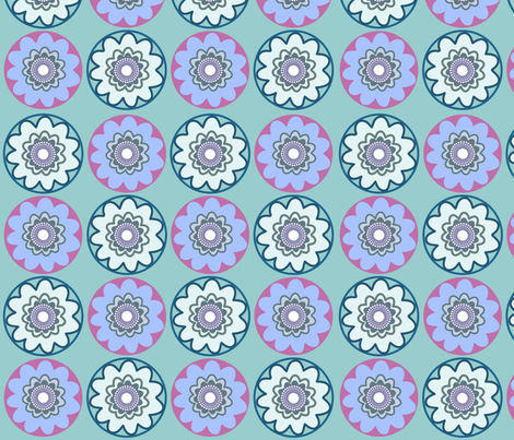 geometricflowers2 fabric by snap-dragon on Spoonflower - custom fabric