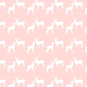 Pink & White Deer in the Woods