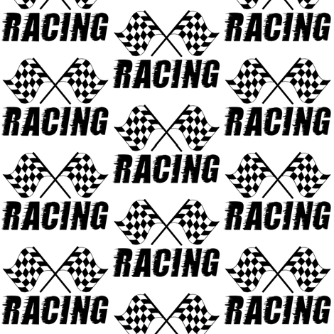 racing flag fabric by stofftoy on Spoonflower - custom fabric