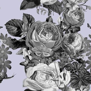 Vintage Rose Garden in Lilac