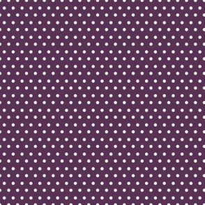 Polka Dots Purple & White