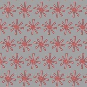 scarlet star on gray