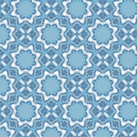 Light blue tulips geometric wallpaper gingezel spoonflower - Light blue linen wallpaper ...