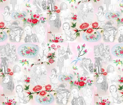 Kids at Play baby blush fabric by hunnellekari on Spoonflower - custom fabric