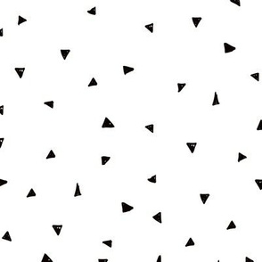 Sweet geometric triangles cool abstract Scandinavian design black and white