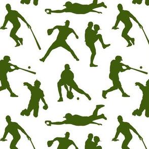 Green Baseball Players // Small