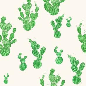 Linocut Cacti #1 pattern