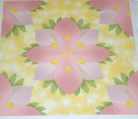 Pink Flower on Fuzzballs