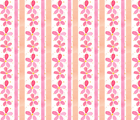 Flower Stripe fabric by countrygarden on Spoonflower - custom fabric