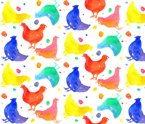 Chickens and Scratch fabric by countrygarden on Spoonflower - custom fabric