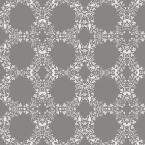 wreath circles grey