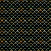 Snake Skin Triangles on Black