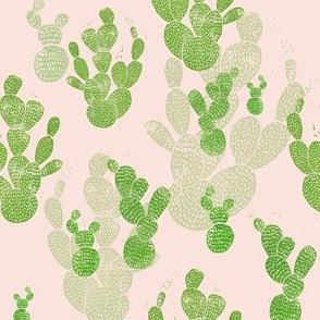 Linocut Cacti #1