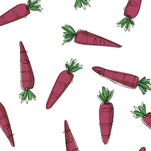 Wonky Carrots - purple