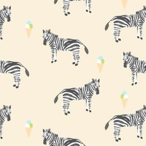 zebra and gelato cream