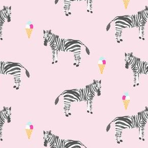 zebra strawberry icecream